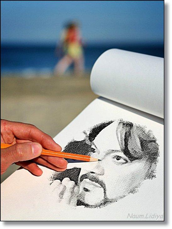 Рисую портрет любимого певца - Лидия (naum.lidiya)