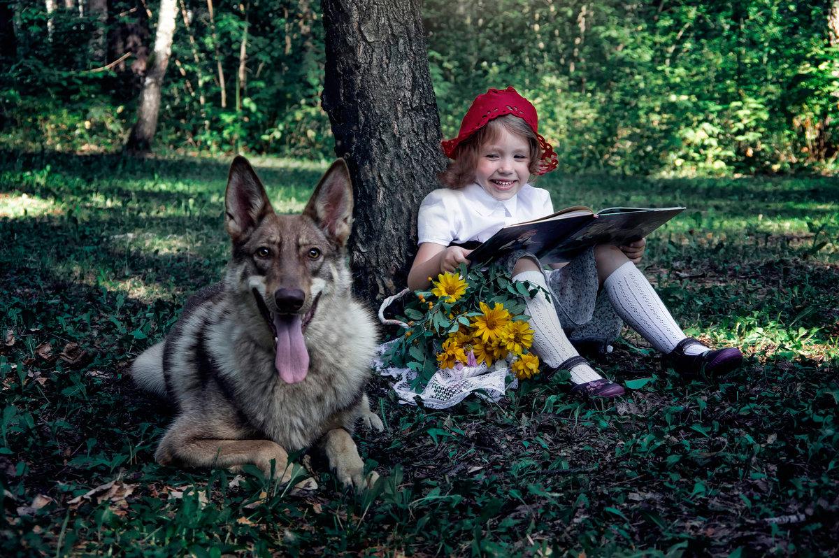 Красная Шапочка читает Волку сказку - Нина