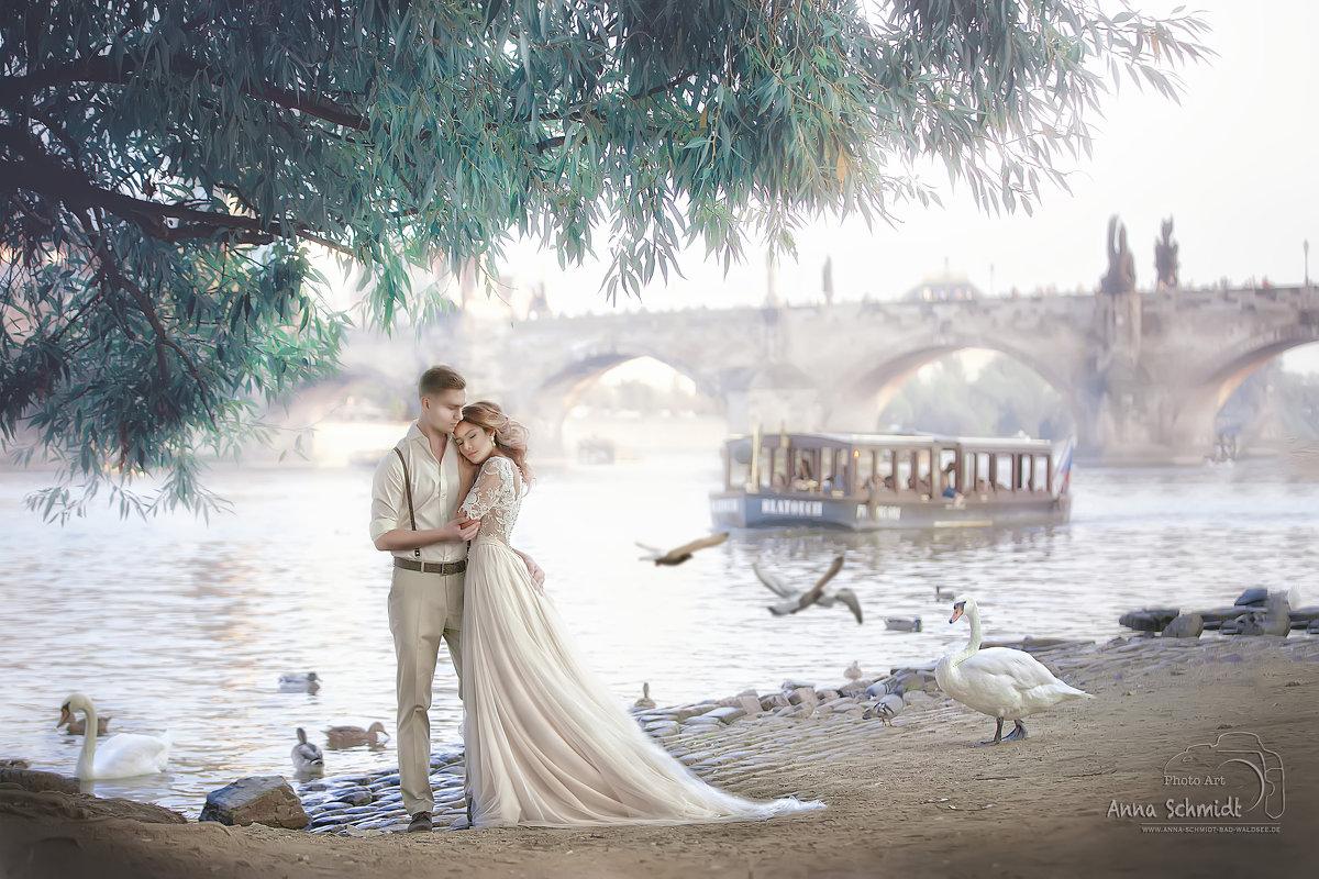 свадьба, лебеди - Anna Schmidt