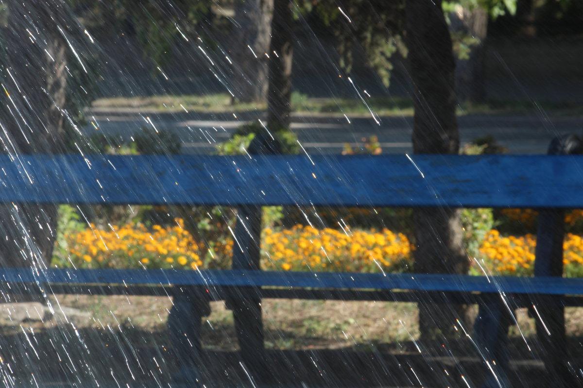 скамейка у фонтана - Надежда Щупленкова