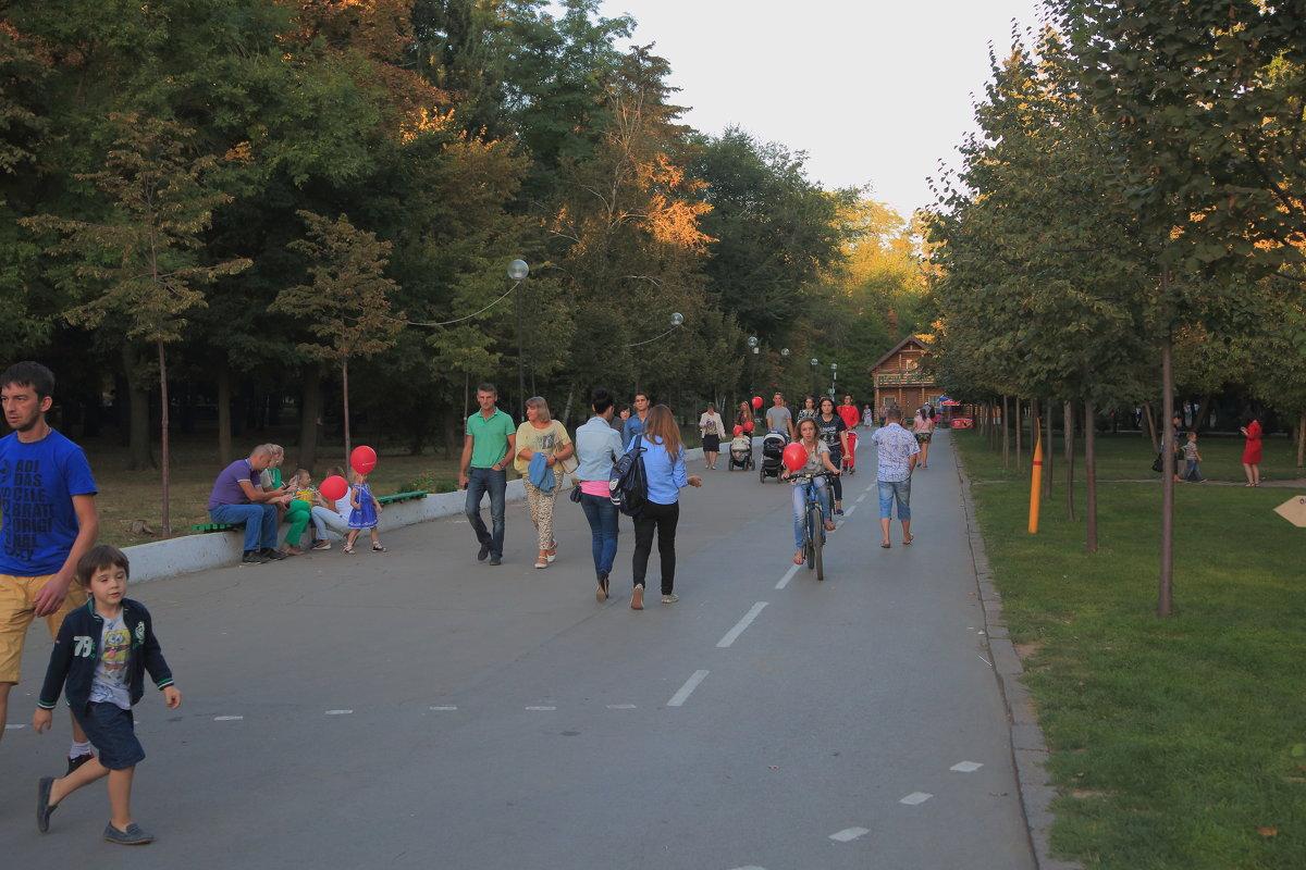 В вечернем парке - Леонид