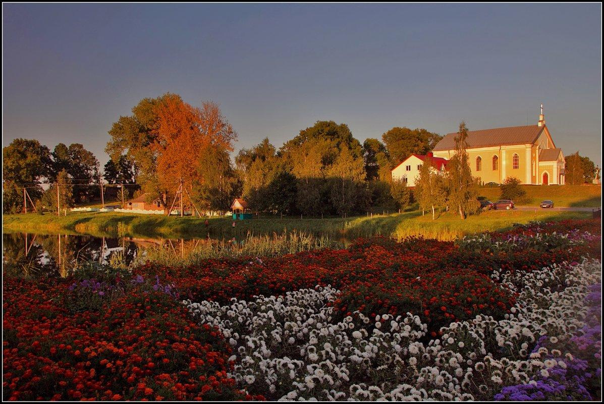 пейзаж с костелом - Дмитрий Анцыферов
