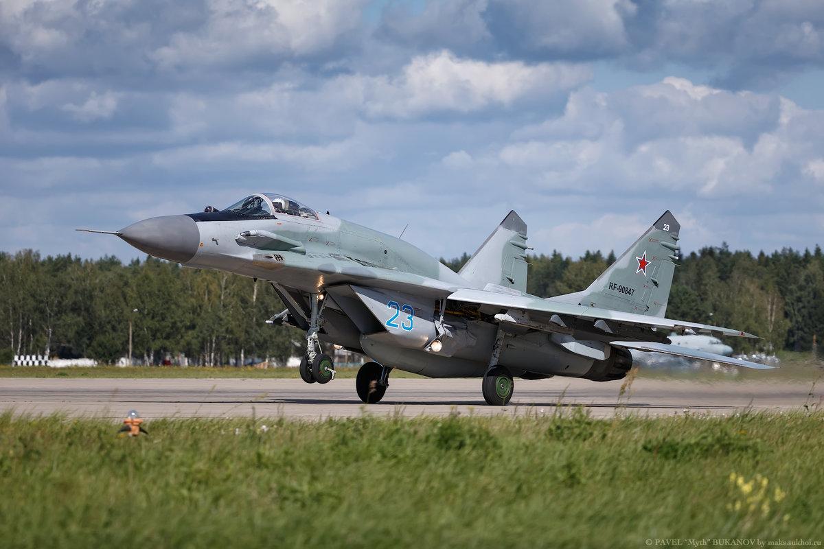 За две секунды до отрыва. МиГ-29СМТ ВКС РФ - Павел Myth Буканов