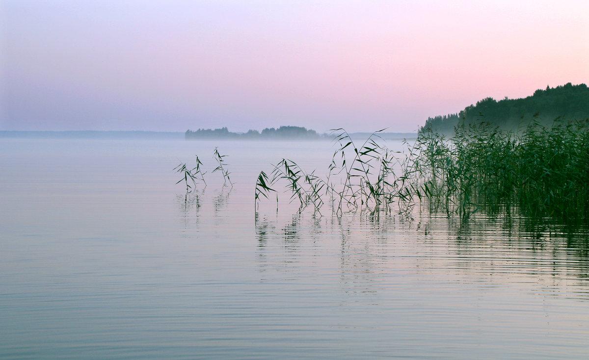 Рассвет на Ковжском озере. - Николай Карандашев