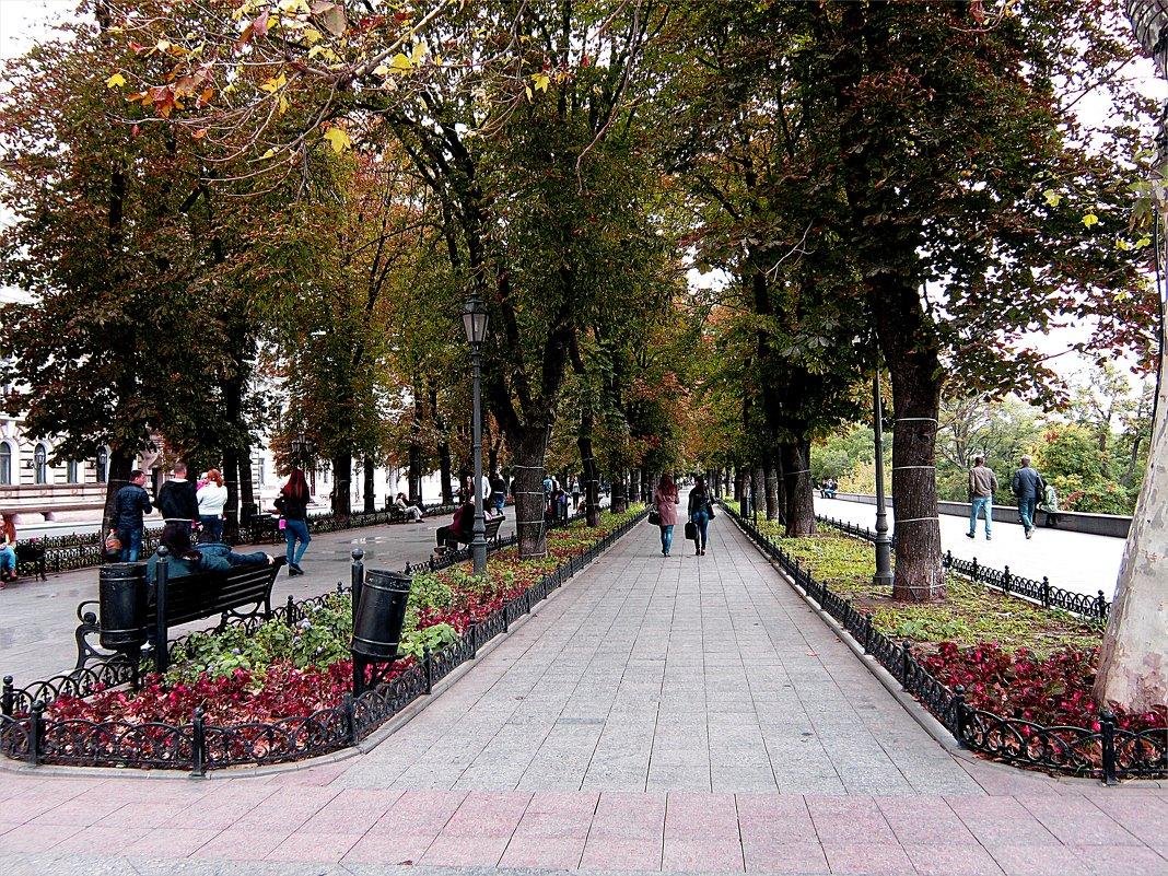 Прогулки по Одессе, Приморский бульвар - Людмила