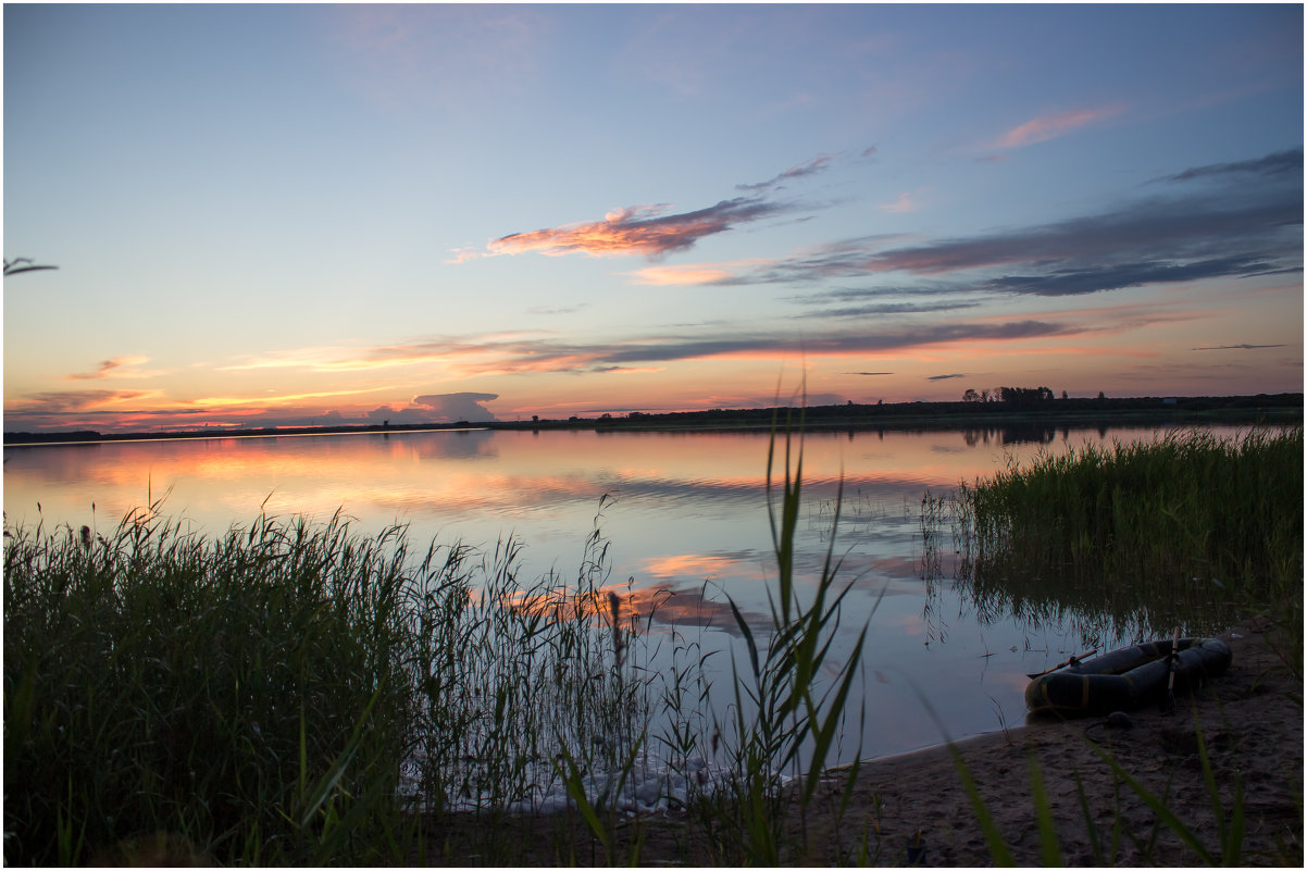 Закат на озере - Елена Исхакова