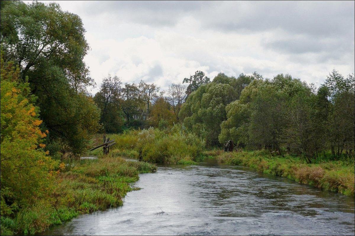 Сильное течение небольшой реки.. - марк
