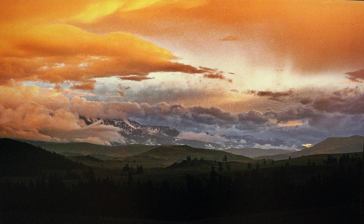 Закат в Курайской степи. Горный Алтай. 26.07.2006 - Елена Смолова