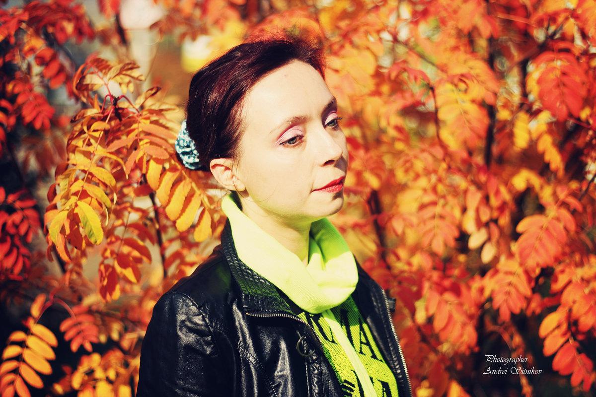 Красивый женский осенний портрет - Андрей Ситников