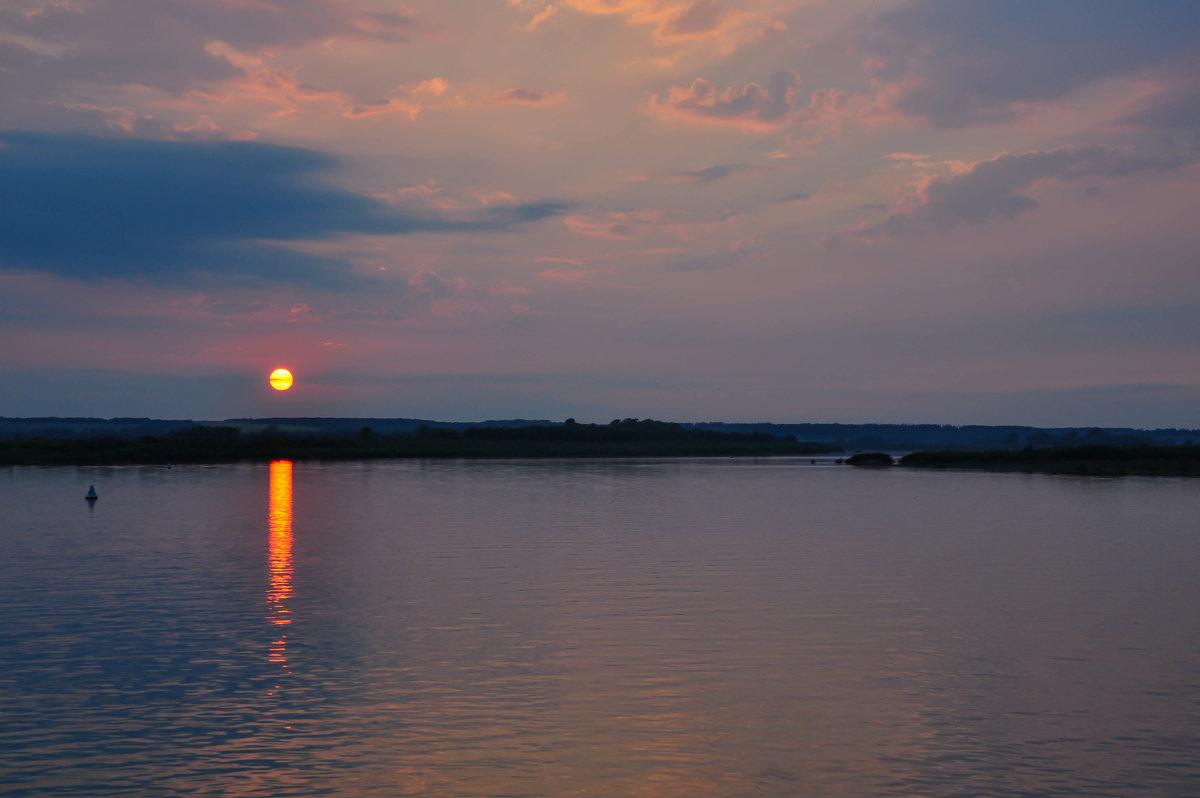 Летний закат на реке - Сергей Тагиров