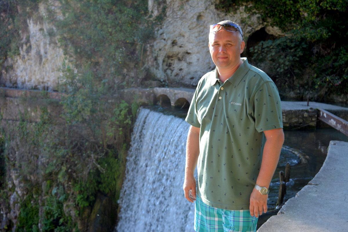 Я и водопад в Новом Афоне. Абхазия. - Михаил Поскотинов