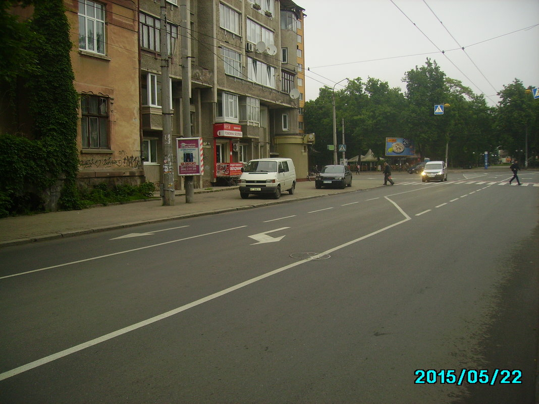 Дорожная   разметка   Ивано - Франковска - Андрей  Васильевич Коляскин