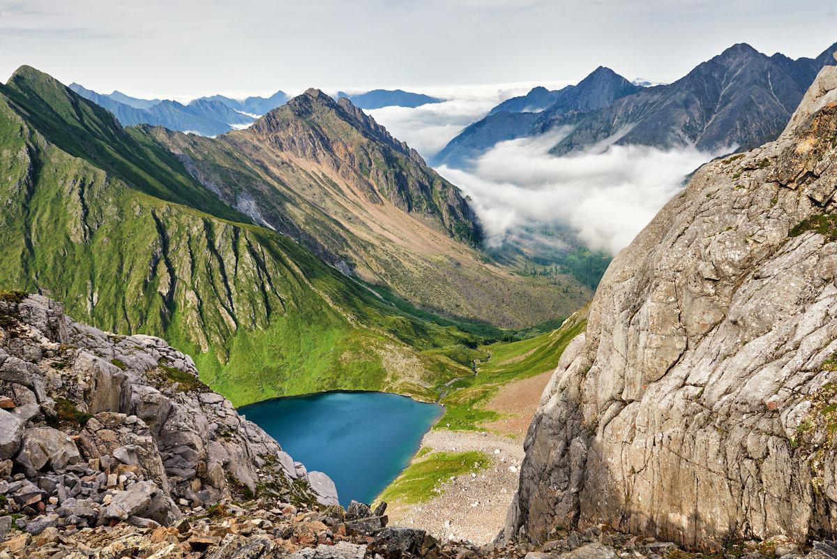 Вид с перевала Горных Туристов. Тункинские гольцы - Виктор Никитин