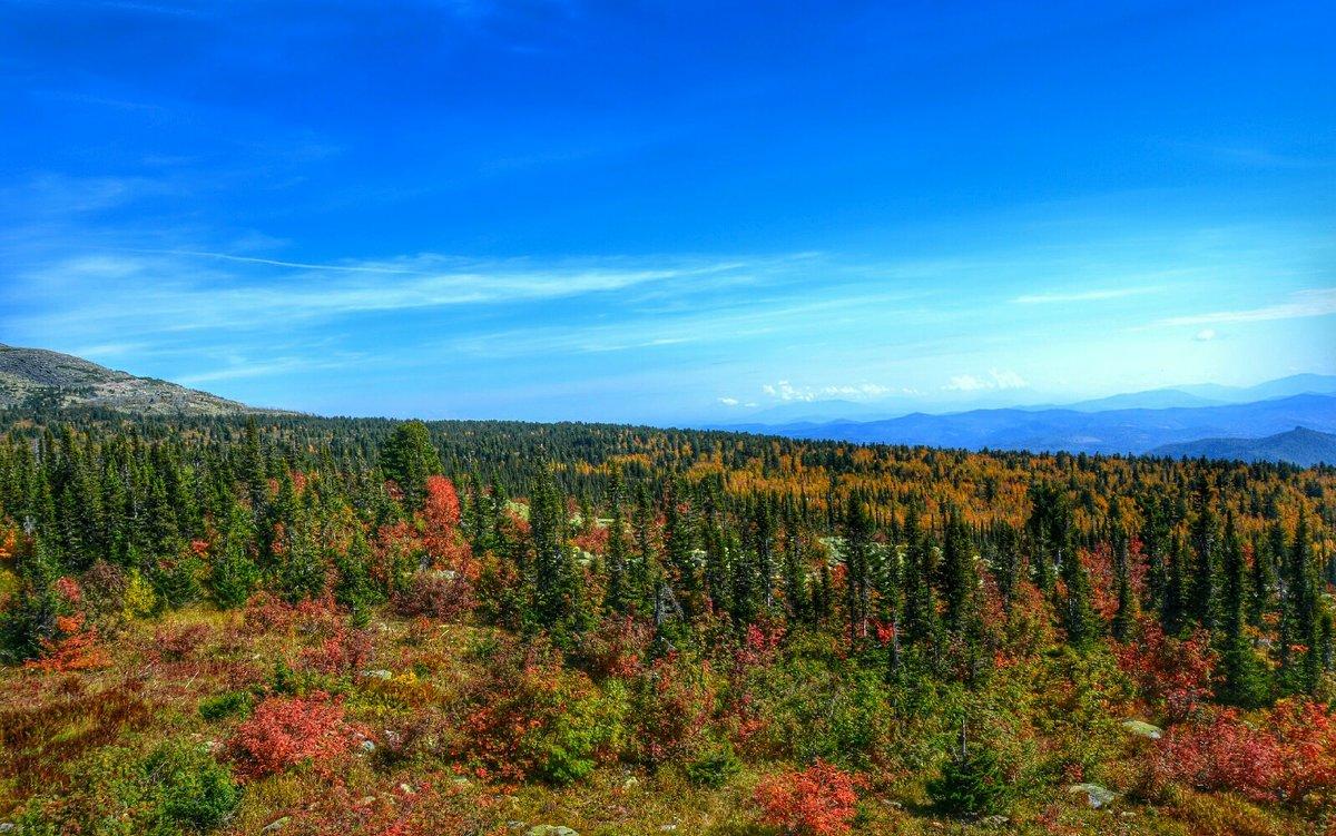 Осенний горный пейзаж - Милешкин Владимир Алексеевич