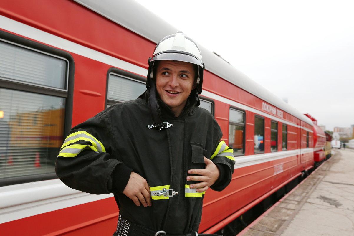 Портрет на фоне пожарного поезда - Ирина Бруй