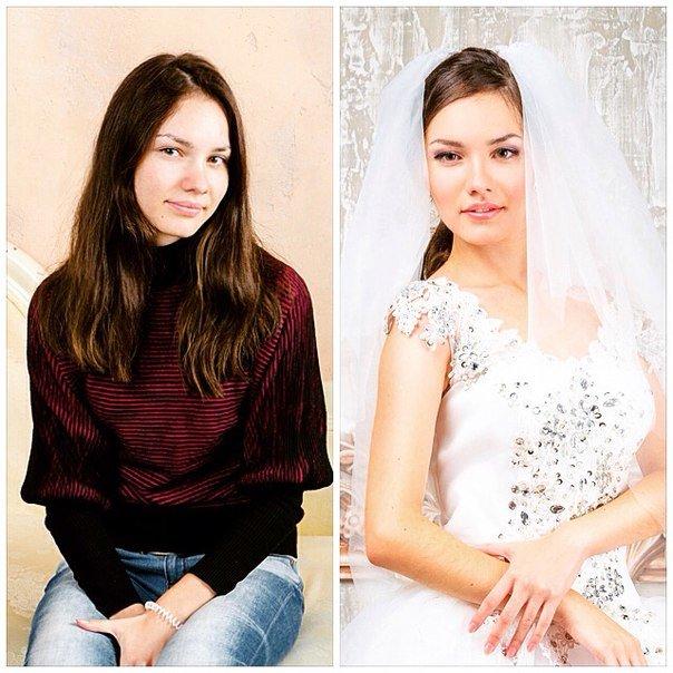 до-после свадебный образ - Светлана Дудуляк