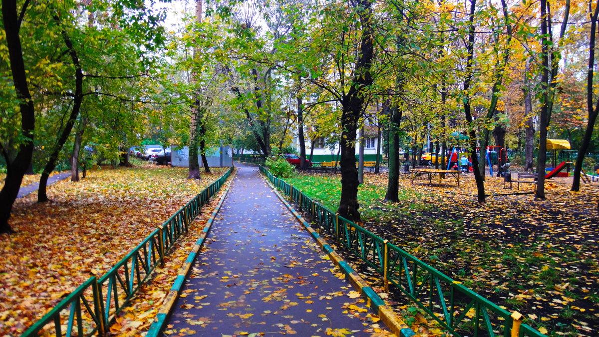 Осенний дворик. - Лара ***