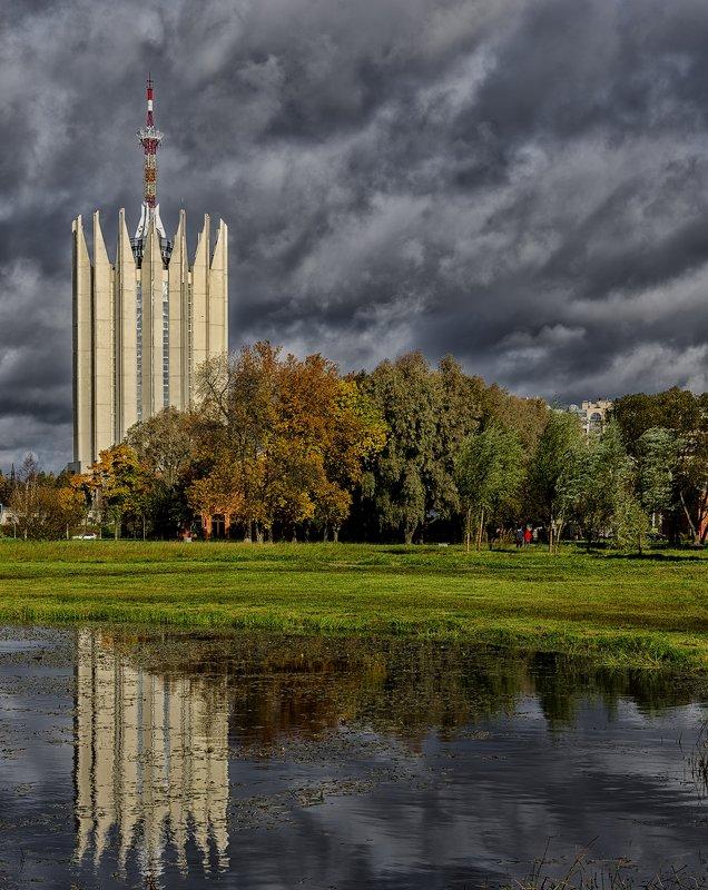 осень в городе - ник. петрович земцов