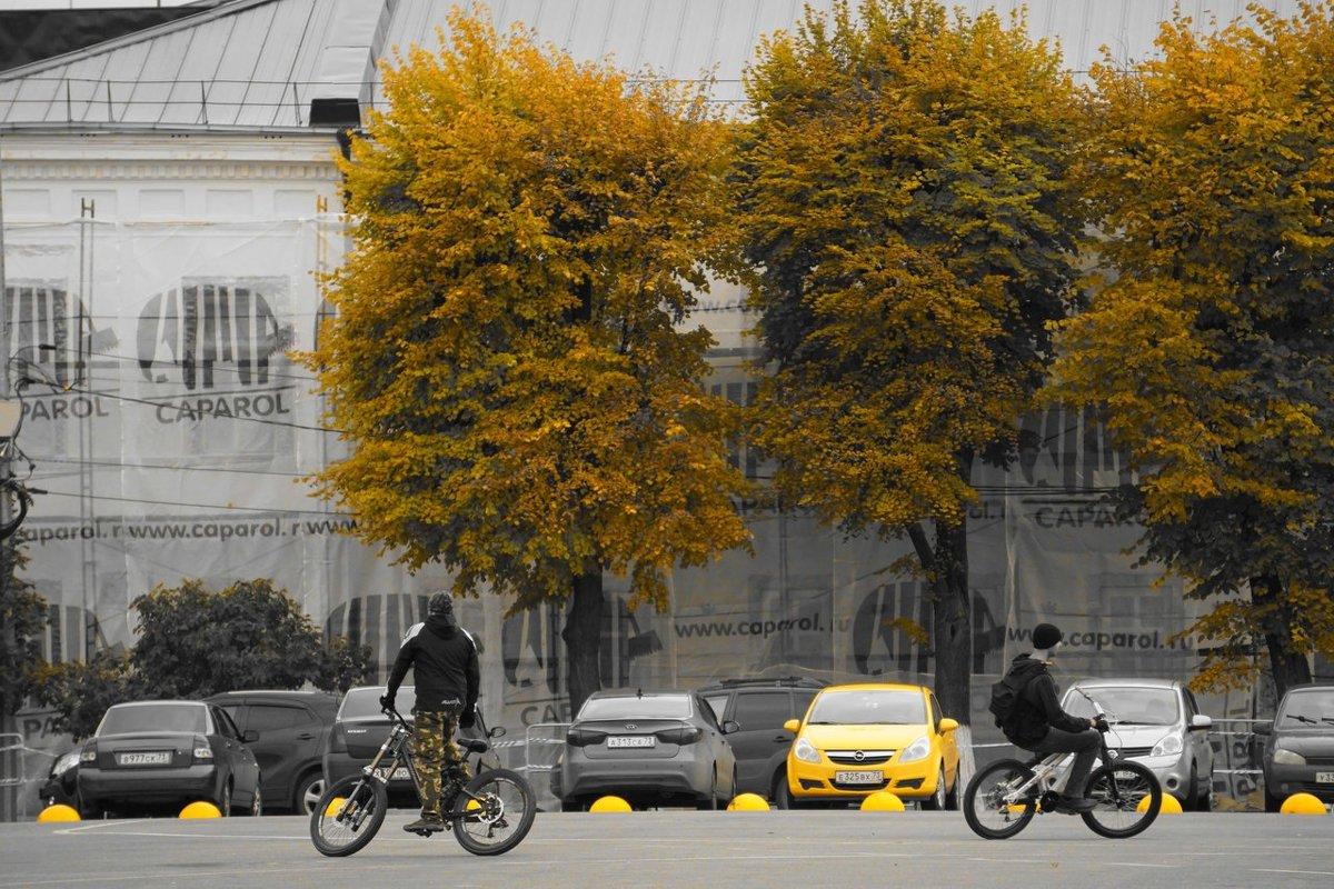 осенние велосипедисты - Дмитрий Потапов