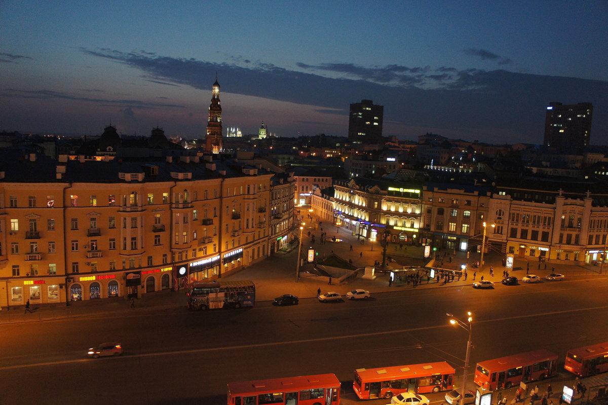 Казань. Вид на улицу Баумана. Ночь - Елена Павлова (Смолова)