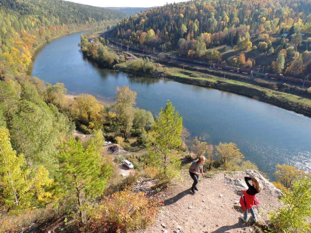 осень на сылве 3. вид с горы ермак - Константин Трапезников