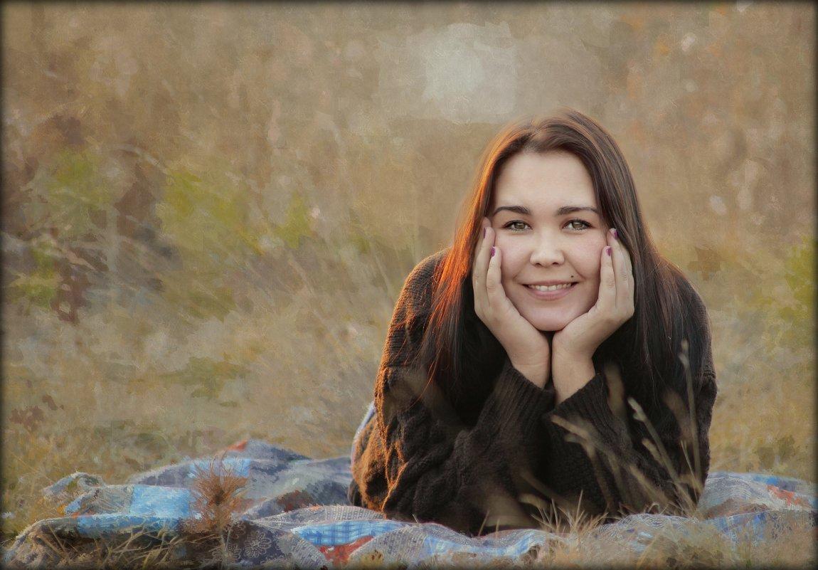 Девушка на природе - Марина Влади-на