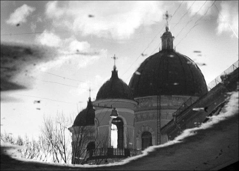 Когда небо в осколках луж... - galina bronnikova