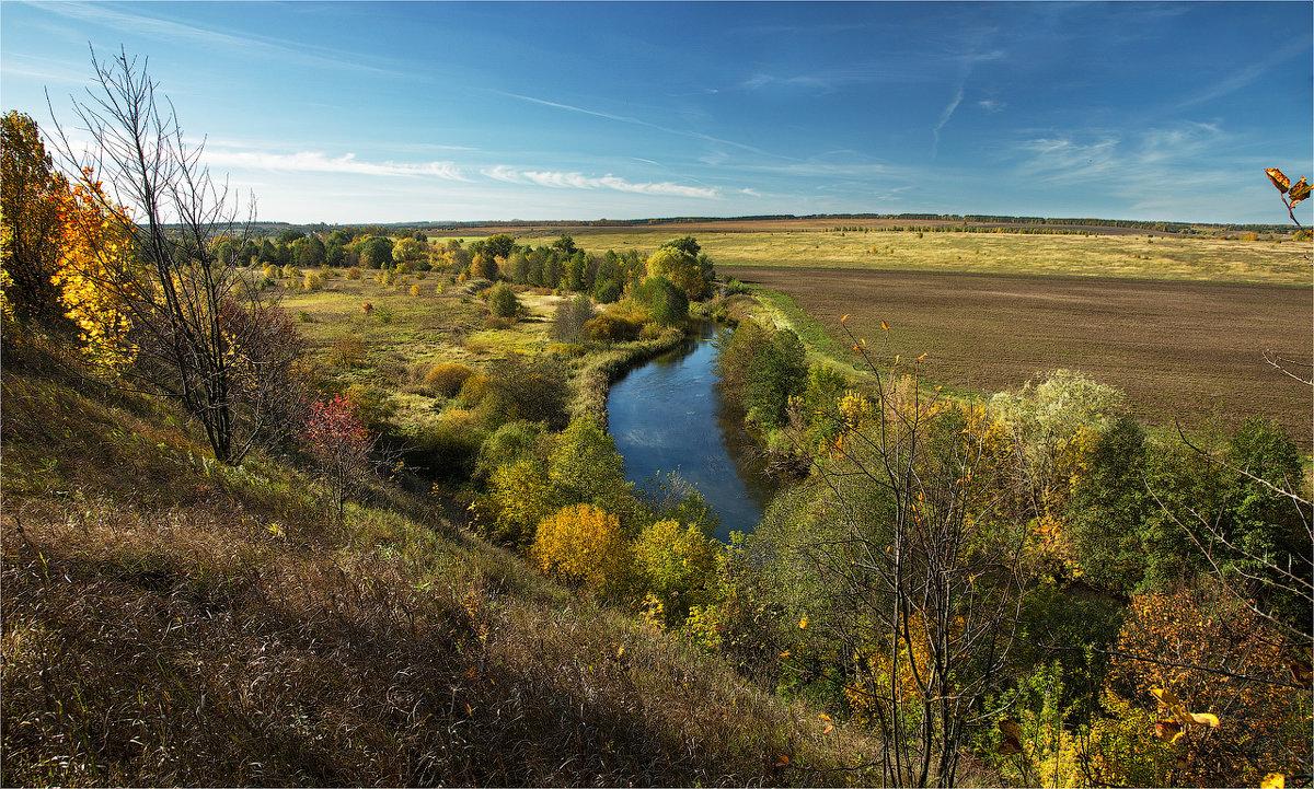 Сельский пейзаж с речкой - Ирина Лепнёва