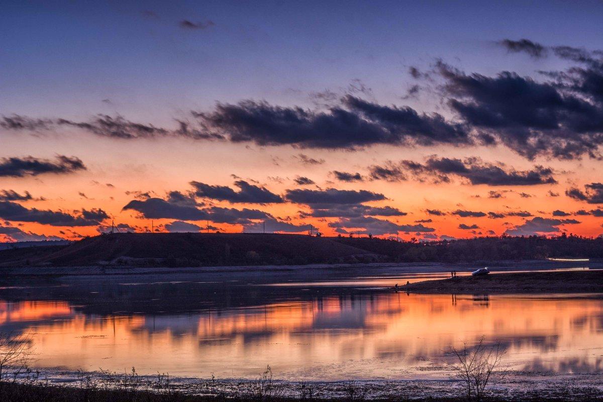 Рыбалка на закате - Ольга