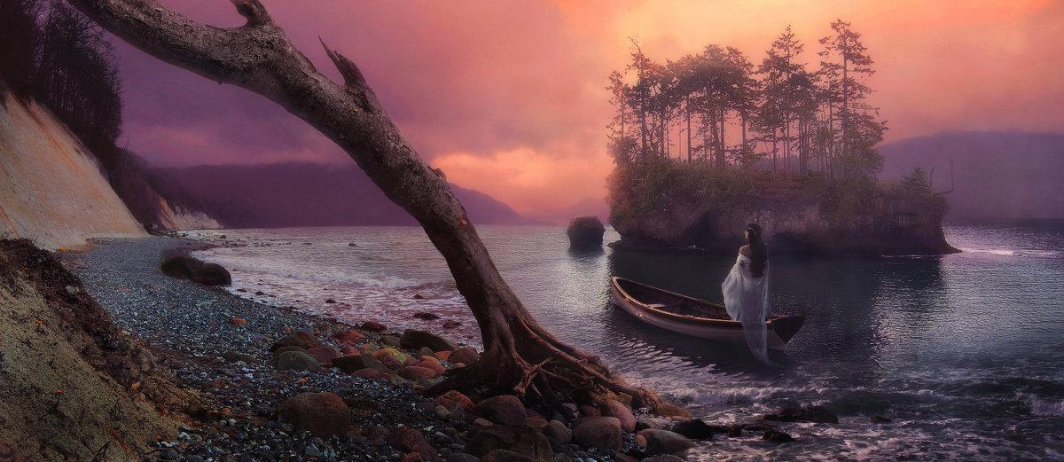 Остров таинственный любящей женщины…  Прячется в сердце, туманом укрытый... - Татьяна Тарасенко