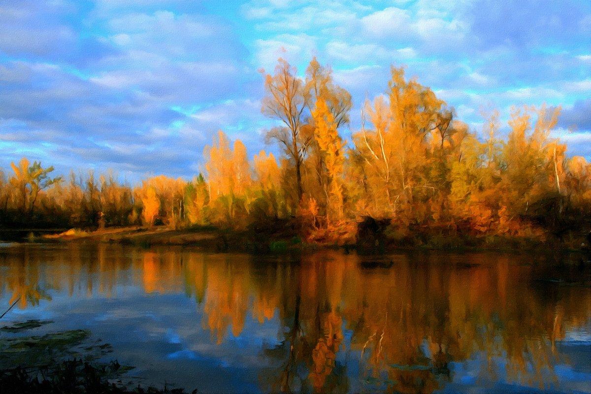 Берёзы желтою резьбой блестят в лазури голубой ... - Евгений Юрков