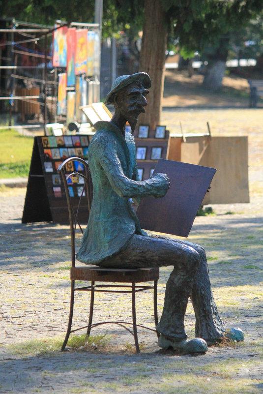 Памятник художнику на Сухом мосту - Ekat Grigoryeva