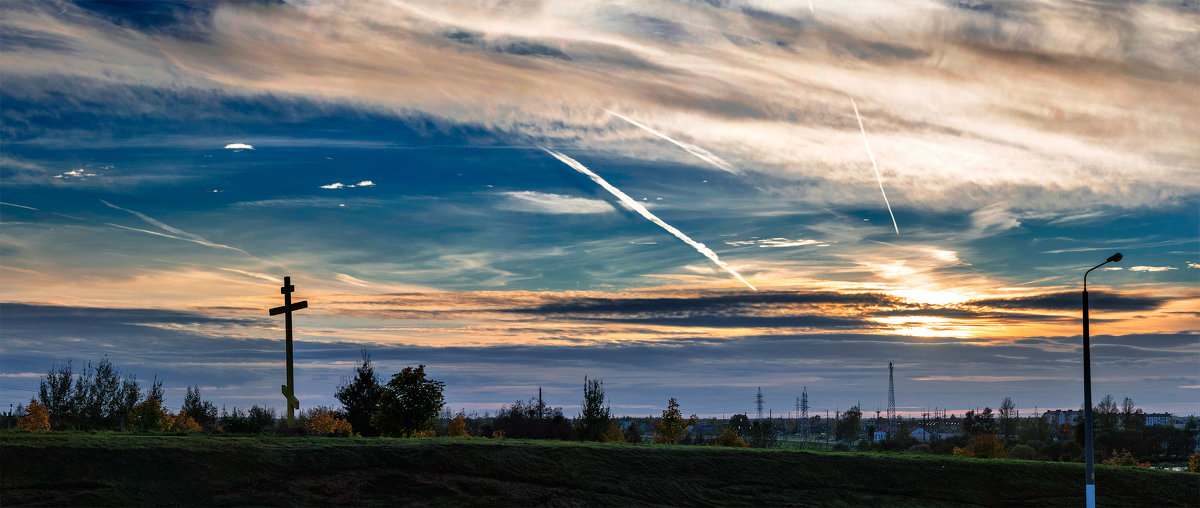 Панорама осеннего заката - Анатолий Клепешнёв