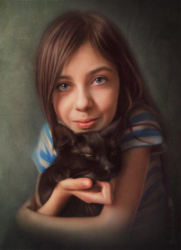 С котёнком - Amedeya Ay
