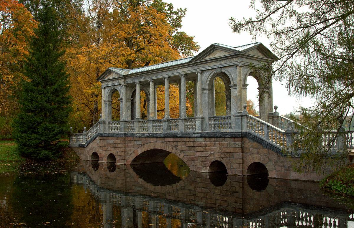 Мраморный мост в парке г.Пушкин - Наталья