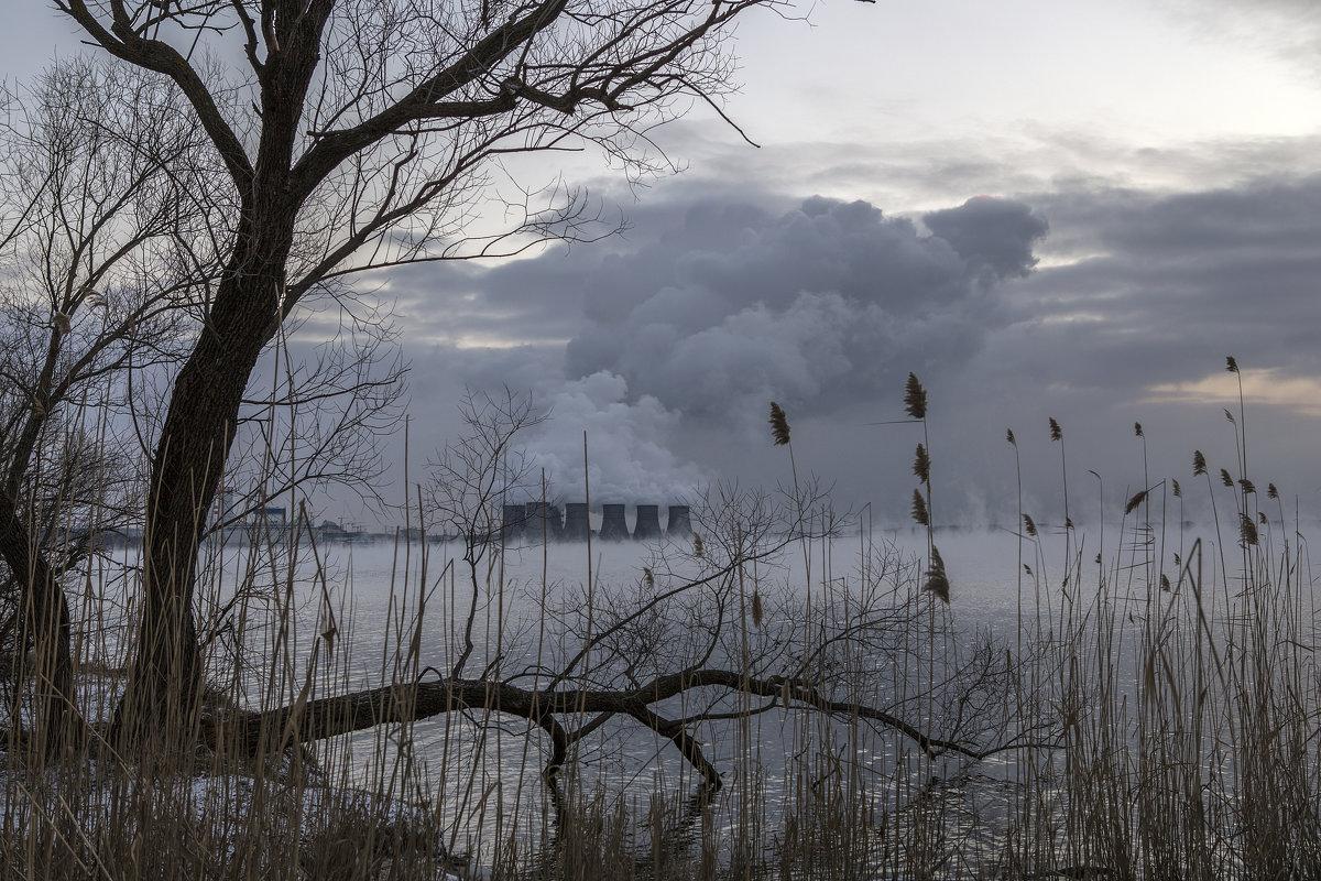 Зимний вечер на Нововоронежском водохранилище - Юрий Клишин