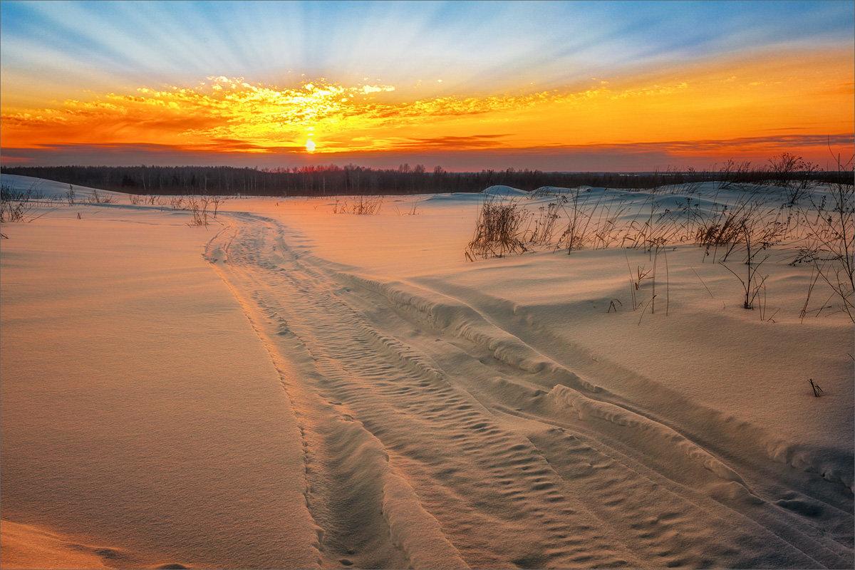 Зимние, вечерние краски... - Александр Никитинский