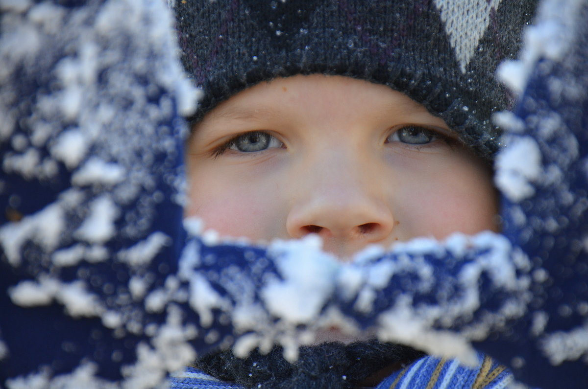 Никита рад снегу! - Оля Богданович