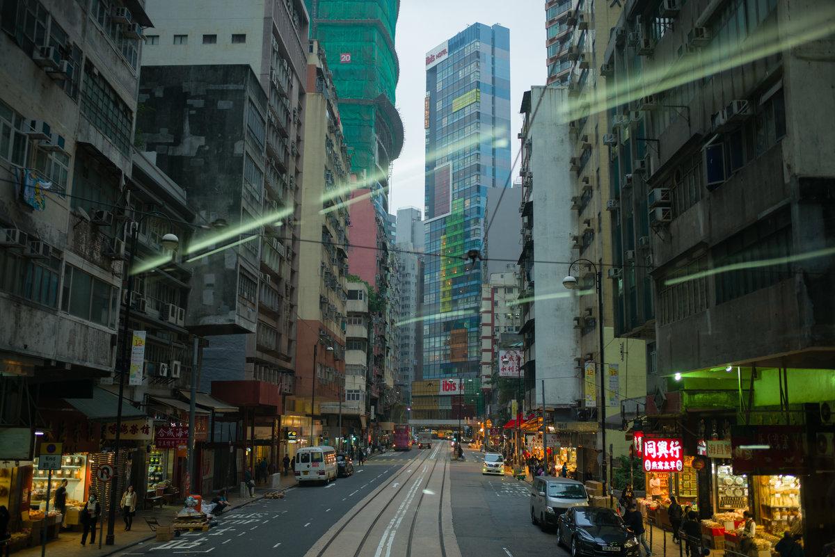 Зелёные лучи пронизывают Hong Kong) - Sofia Rakitskaia