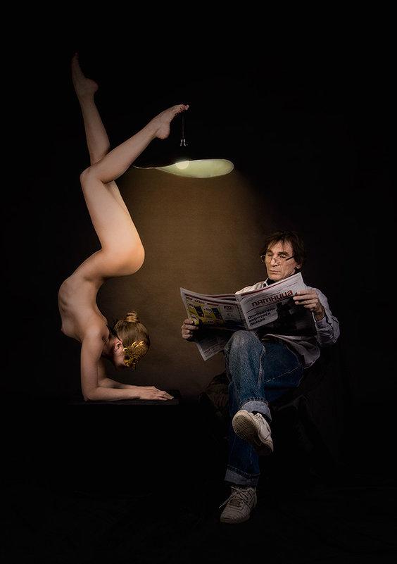 Автопортрет с любимой моделью. - Vladimir Sagadeev