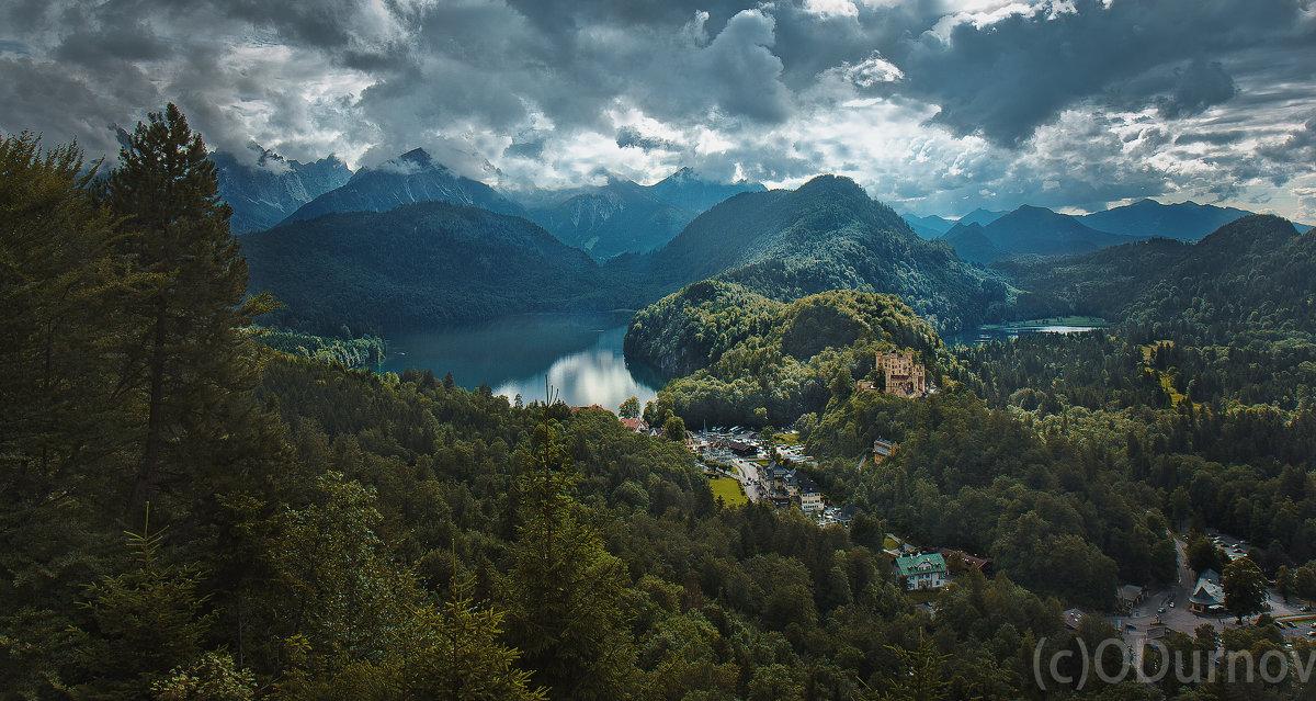 Альпы, вид на поселок Швангау, Бавария - Олег Дурнов