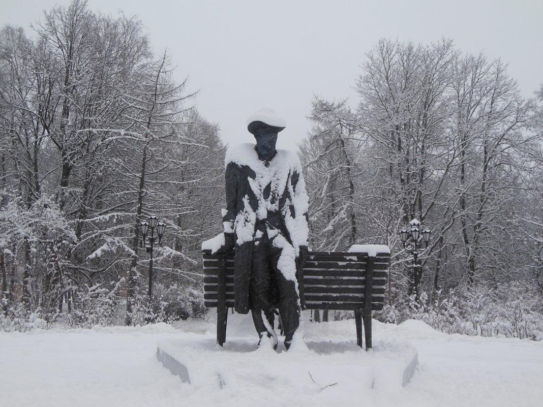 Памятник Сергею Рахманинову. Весь в снегу! - Татьяна