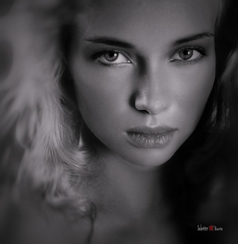 портрет Наташи ч\\б - Борис Соловьев