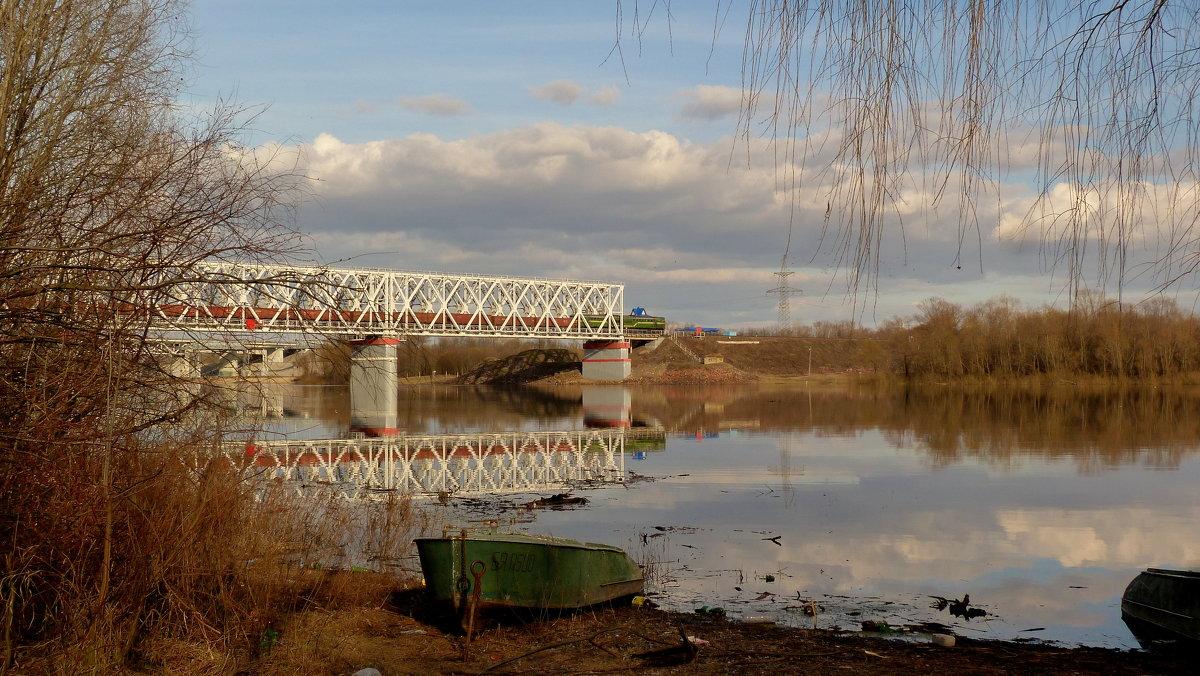 мост , Сож, товарняк - Александр Прокудин