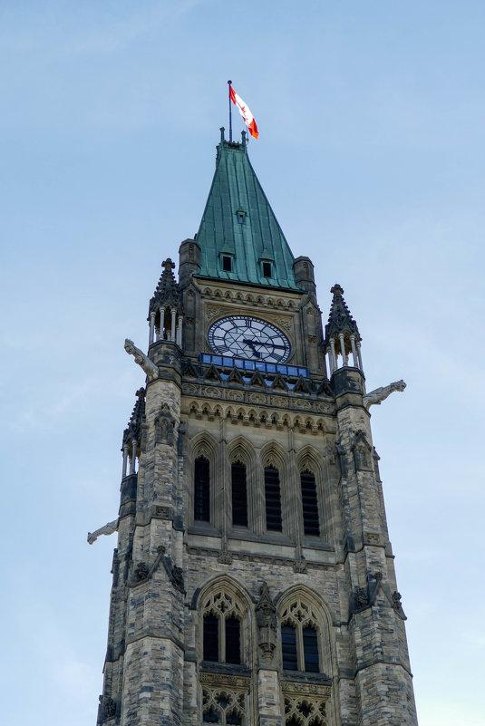 Часы и горгульи на башне Мира (центральная башня здания парламента в Оттаве) - Юрий Поляков