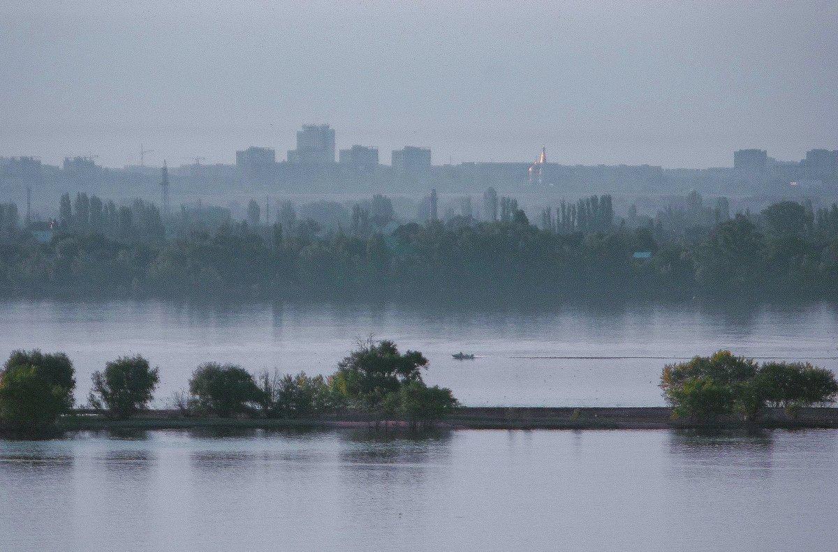 Туманное утро над рекой. - Владимир Бочкарёв