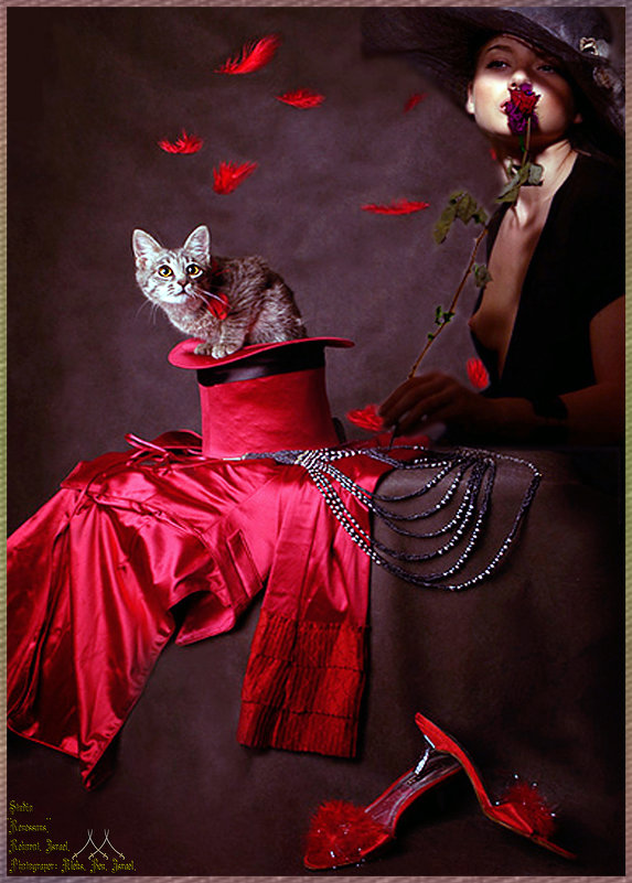 Дама с котенком ....... - Aleks Ben Israel