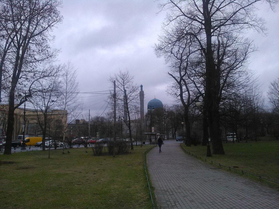 Городской пейзаж с Мечетью. (Санкт-Петербург). - Светлана Калмыкова