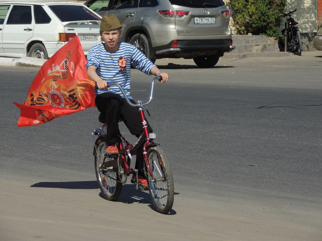 Велопарад ко Дню победы - Евгения Чередниченко