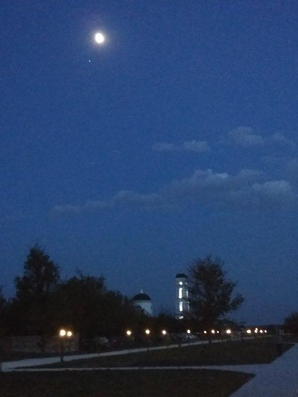 Ночь. Луна. Звезда. Облака - Elena Dubinina